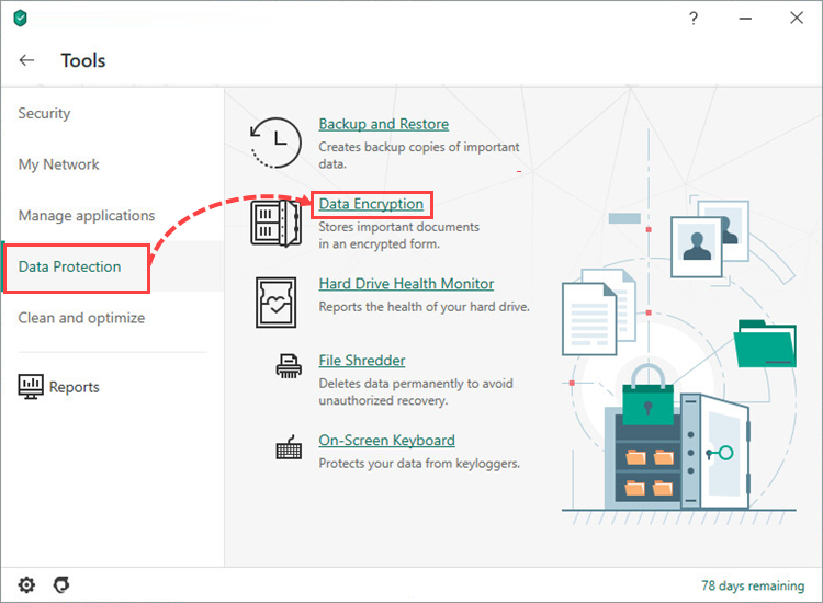 Data Encryption in Kaspersky Security Cloud 20