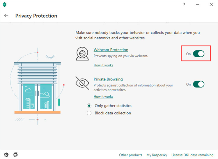 Enabling Webcam Protection in Kaspersky Internet Security 20