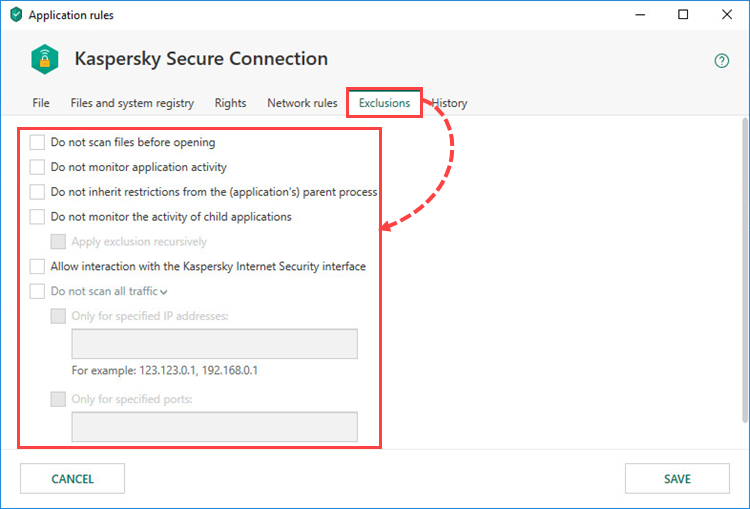 Configuring application restrictions with Kaspersky Internet Security 19