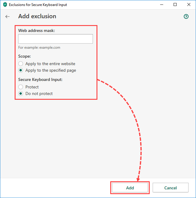Adding exclusions for On-Screen Keyboard in Kaspersky Total Security 20