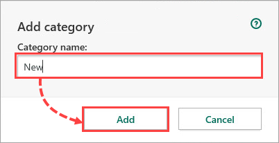 Adding a category to a resource in Kaspersky Security Cloud 20