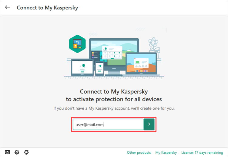 Image: Enter your login and password for My Kaspersky