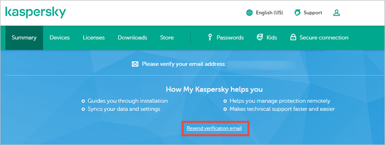 My Kaspersky account