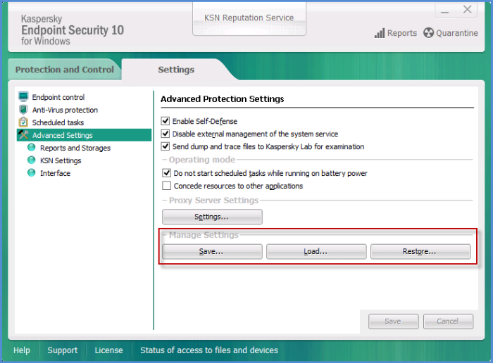 How to uninstall kaspersky endpoint security 10 for windows with.