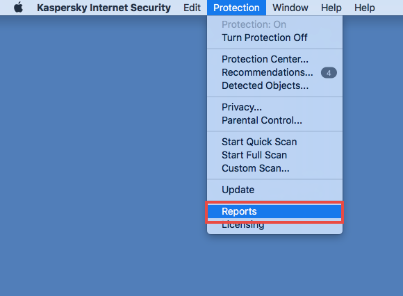Image: Kaspersky Internet Security 18 for Mac Protection window