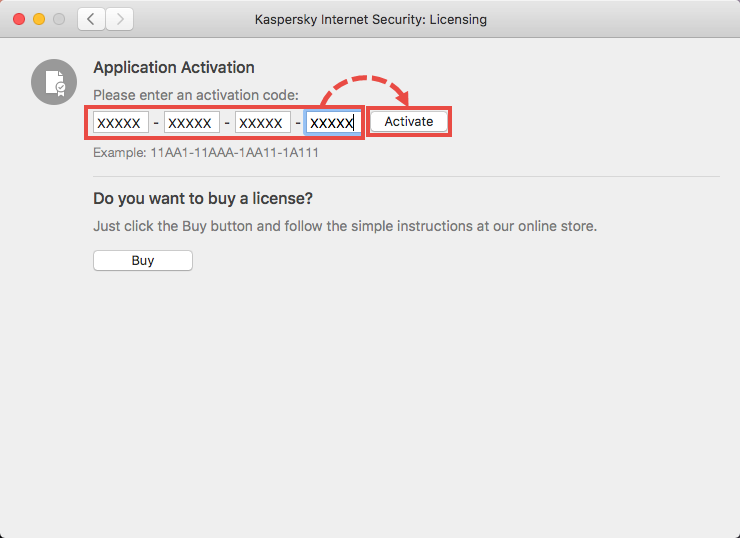 Activating Kaspersky Internet Security 19 for Mac