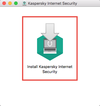 The installation wizard of Kaspersky Internet Security 19 for Mac