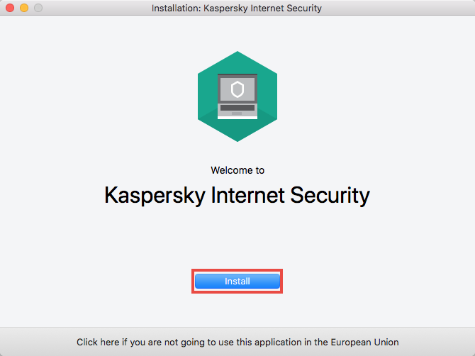Installation of Kaspersky Internet Security 19 for Mac