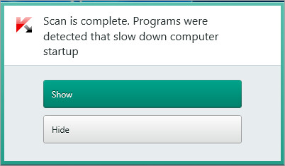 Image: Kaspersky Internet Security notifcation