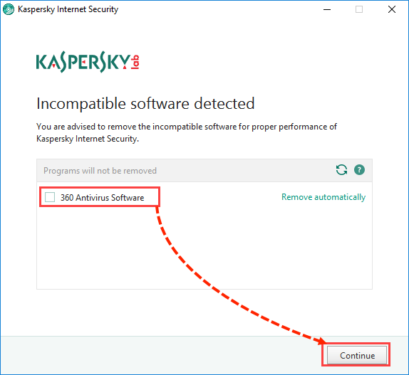 Image: the installation window of Kaspersky Internet Security 2018