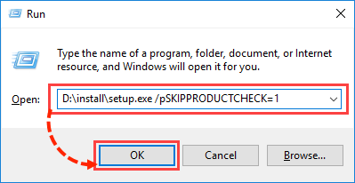 Image: Add the pSKIPPRODUCTCHECK parameter for running Kaspersky Internet Security 2018