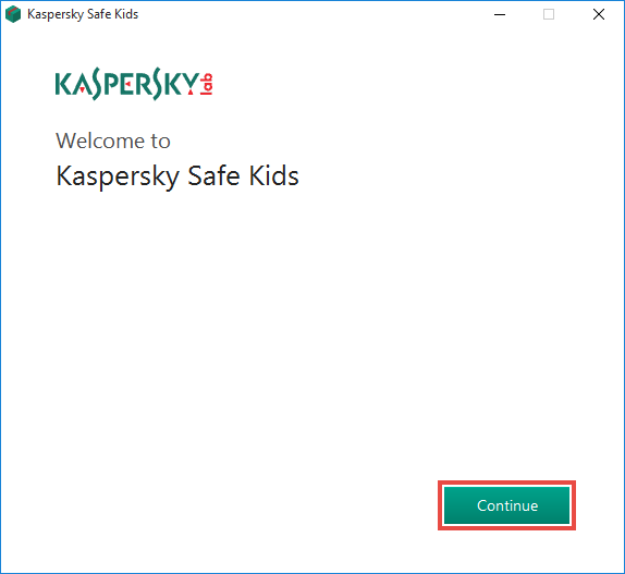 Completing installation of Kaspersky Safe Kids