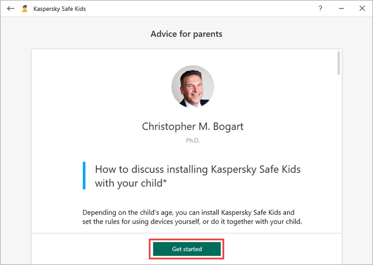 Getting started with Kaspersky Safe Kids