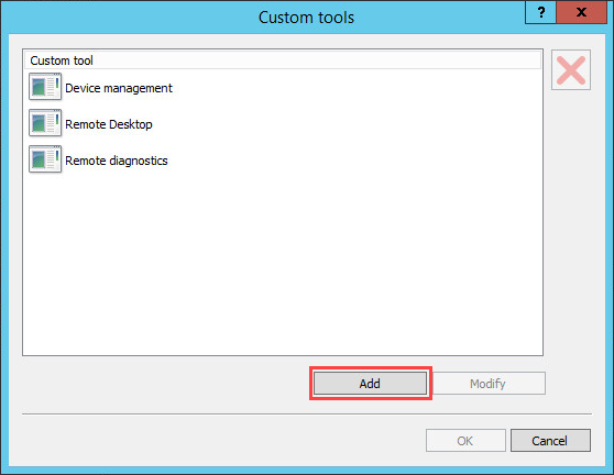Adding a custom tool in Kaspersky Security Center 10