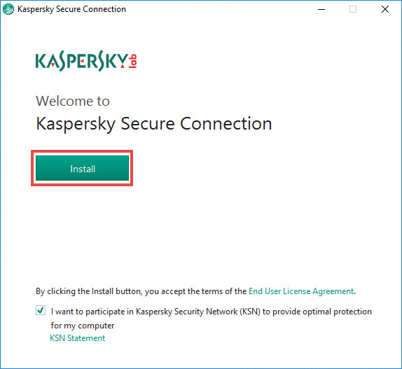 Image: the Kaspersky Security Network statement