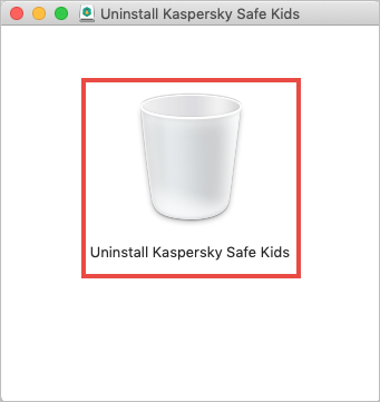 Starting the uninstallation of Kaspersky Safe Kids for Mac